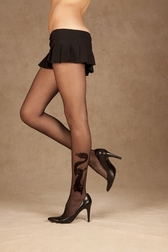 Dragon Tattoo Sheer Pantyhose