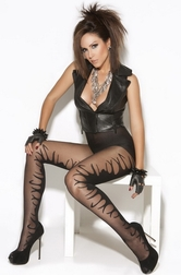 Flaming Jacquard Pantyhose