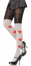 Queen Of Hearts Acrylic Tights