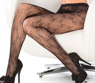 Lovely Bow Fishnet Pantyhose