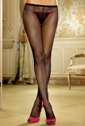 Love Spell Back Lace-Up Pantyhose