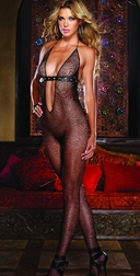 Black Diamond Sydney Open Crotch Bodystocking
