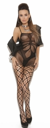 Floral Design Seamless Bodystocking