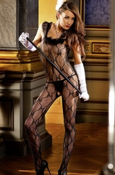 Ruffle Lace Bodystocking