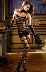 Wild Side Sexy Jacquard Bodystocking