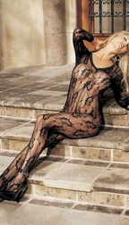 H.O.T. Fishnet lace body stocking, open front