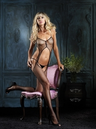 Industrial Net Rhinestone Bodystocking