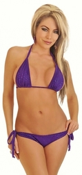Fun In The Sun Purple Foil Bikini