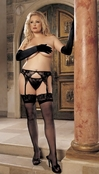 Plus Size H.O.T. Lace Top Stockings