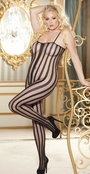 Elegant Stripe Sheery Bodystocking