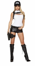 3 PC Sexy DEA Damsel Costume