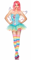 3 PC Rainbow Fairy Costume