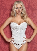 Plus Size Finally Found You Diva Divine White Corset