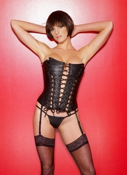Full Lace Up Leather Corset