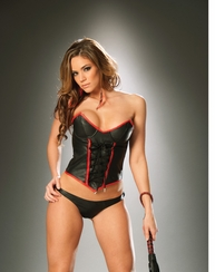 Leather Crazy Lace Up Corset