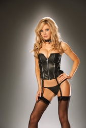 Leather Crazy Strapless Corset