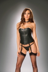 Leather Crazy Zip Up Corset