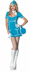 4 PC. Classic Flight Attendant Costume