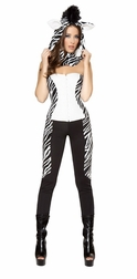 3PC Wild Zebra Costume