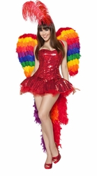 3PC Parrot Playmate Costume