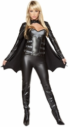 3PC Sexy Bat Warrior Costume