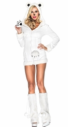Snowy Polar Bear Sexy Costume