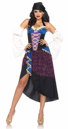 4 PC Tarot Card Gypsy Costume