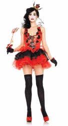 2 PC Black Heart Queen Costume