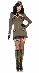 5 PC. Pin Up Army Girl Costume
