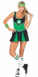2 PC Boston Celtic Cheerleader Costume