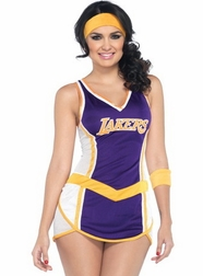 2 PC Lakers Babe Costume