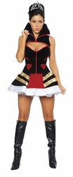 Deluxe 3pc Queen Of Hearts Costume