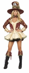 Deluxe 4pc Tea Party Hatter Costume