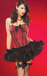 Crazy Plaid Bustier