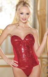 Burning Love Sequin Corset Top