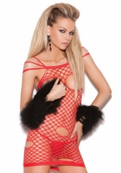 Rock That Bod Cupless Net Dress