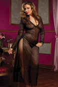 Plus Size Secret Affair Tonight Long Sleeve Gown