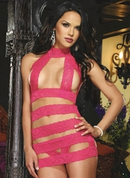 Red Diamond Lacy Intrigue Strappy Chemise