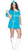 Plus Size 4 PC. Classic Flight Attendant Costume