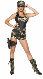 Let It Blow 5 PC Army Babe Costume