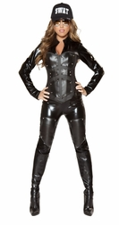 3 PC Bulletproof SWAT Babe Costume
