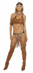 5 PC Cherokee Warrior Costume