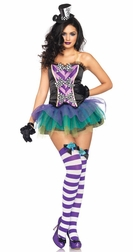 3 PC Tempting Mad Hatter Costume