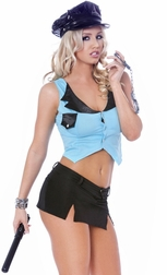 5 Piece Stop Traffic Sexy Cop Costume