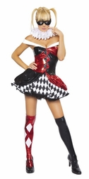 4PC Sexy Clown Costume