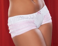 Plus Size Two Tone Lace Ruffle Boyshort