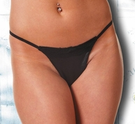 Plus Size Leather & Lace G-String