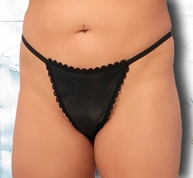 Plus Size Sexy Lace & Leather G-String