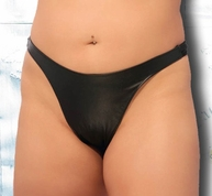 Plus Size Sexy Leather Thong