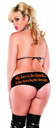 "Plus Size ""My ass is so good� it can turn a gay man straight"" Graphic Boy Short"